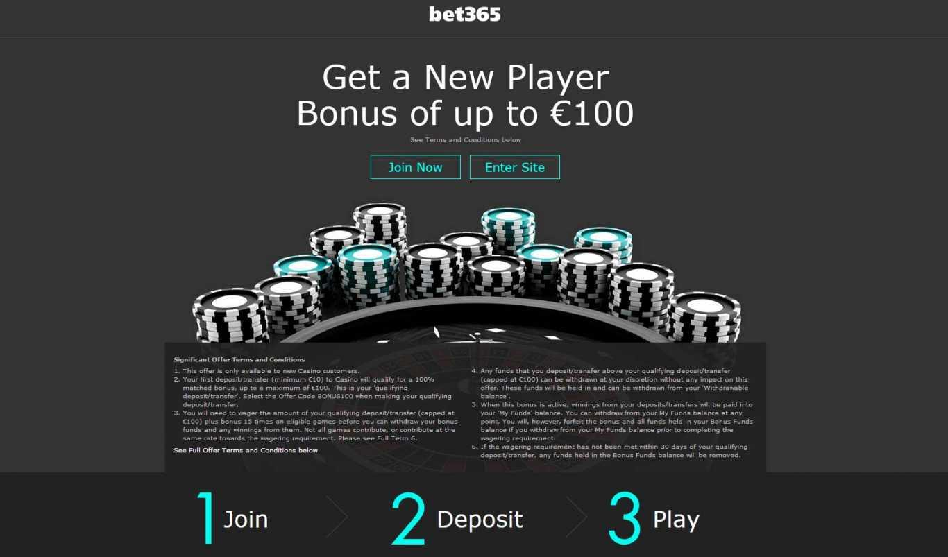 Términos de bonus Bet365
